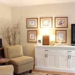 Gallery Of Living Rooms Decorating Ideas Victorian Style Room Decor With A Kids Artwork Camouflage Tv And Buffet Painted Cloud White On Benjamin Moore Gentle Cream Walls