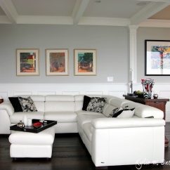 Perfect Green Paint For Living Room Modern Colors 2018 The 9 Best Benjamin Moore Grays Including Undertones Gray Color Stonington Shown With White Leather Sectional Dark Wood