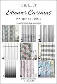 Best shower curtains decor to update bathroom with pink ...