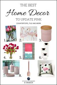 Decor, accessories to update pink or dusty rose kitchen ...