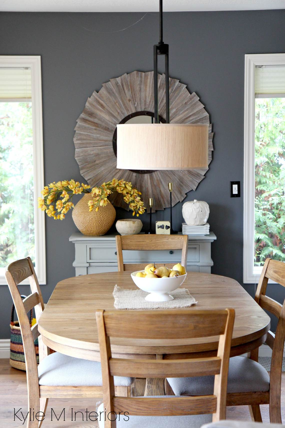 Benjamin Moore Gray on dining room feature or accent wall ...