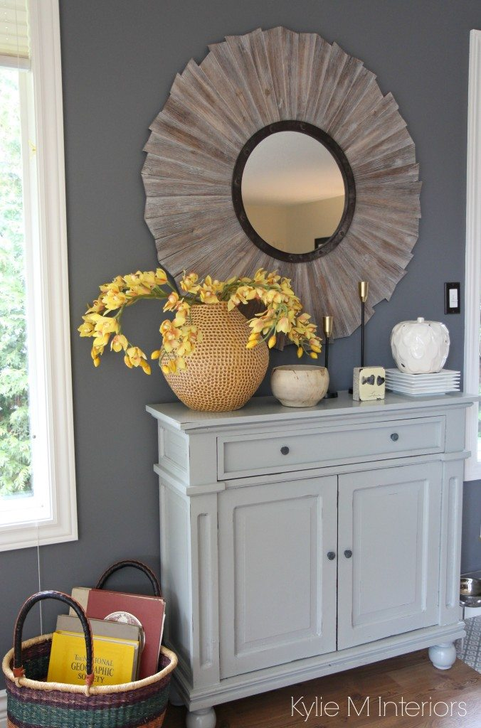 Benjamin Moore Gray The Best Paint Colour Country Style Home Decor On A Gray Painted Buffet In