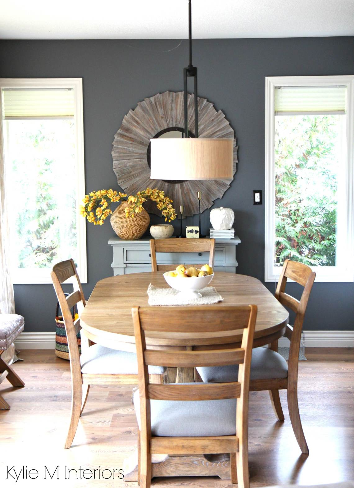 Modern family friendly country farmhouse style dining room ...