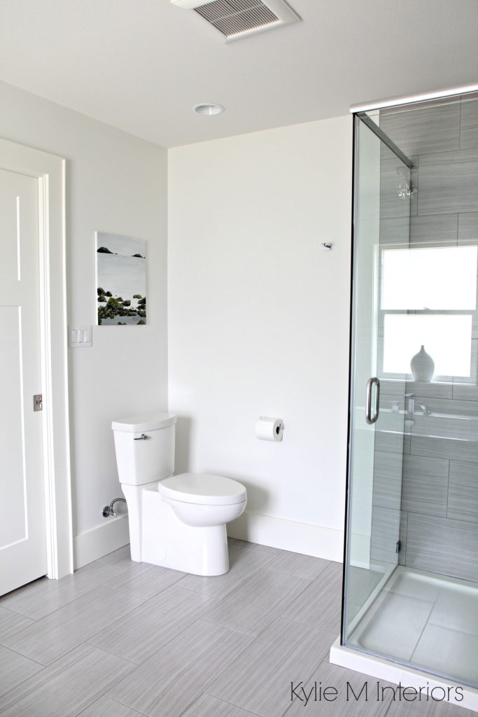 Bathroom Benjamin Moore Oxford White Toilet Linear