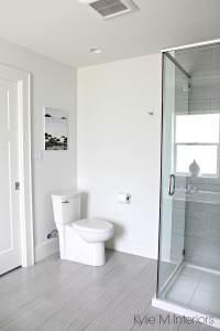 Bathroom Benjamin Moore Oxford White, toilet, linear ...
