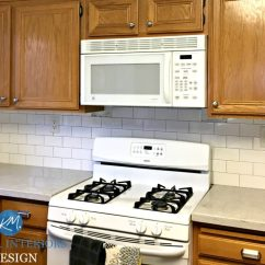 Oak Cabinet Kitchen Inexpensive Countertops Options 5 Ideas Update Cabinets Without A Drop Of Paint To With Countertop Backsplash And Hardware White Appliances