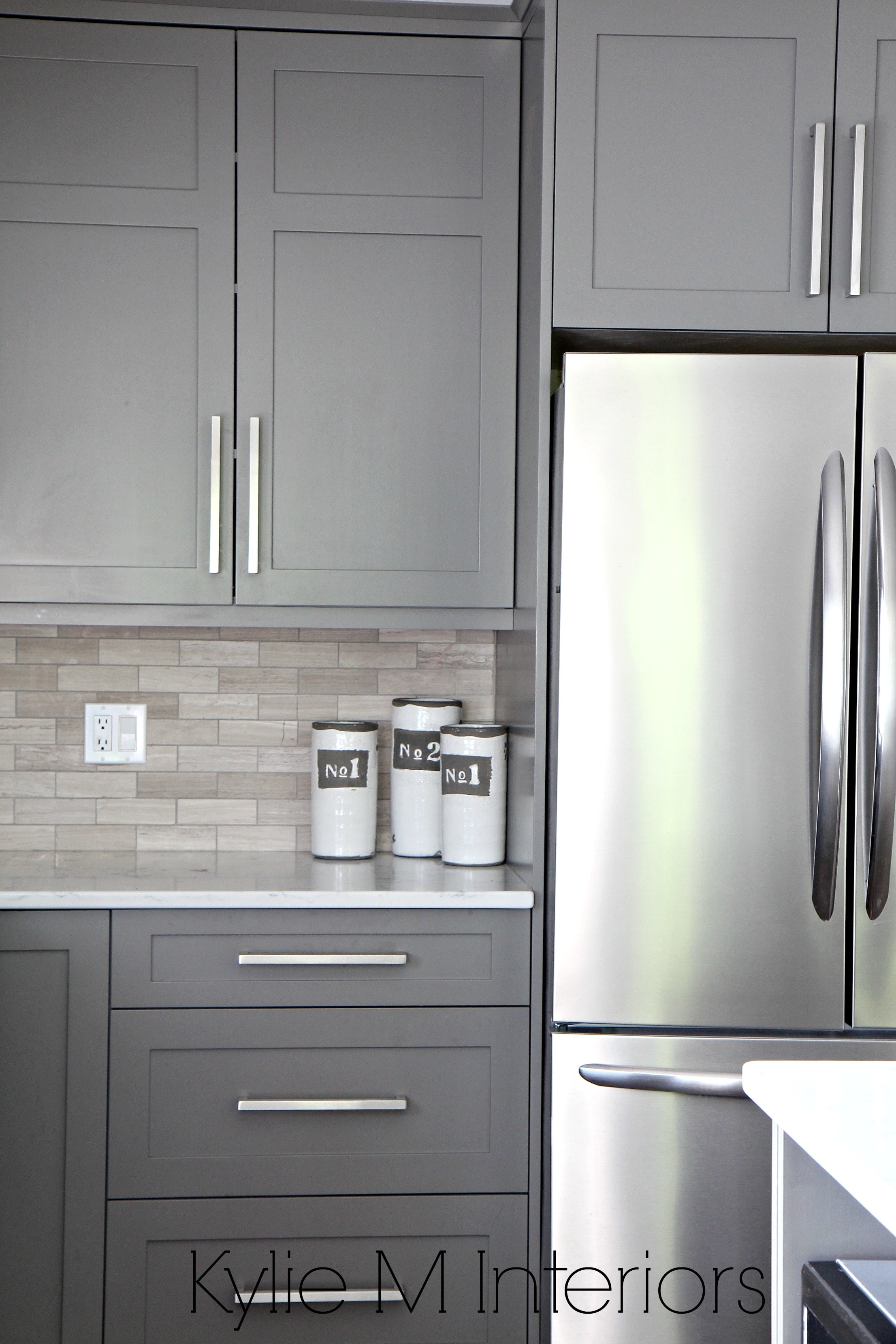 painted gray kitchen cabinets best faucet brands benjamin moore amherst