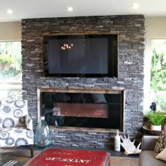 Living Room Decorating Ideas With Stone Fireplace Toy Organizer For Rustic Ledgestone Reclaimed Wood Surround ...