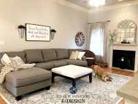Sherwin Williams Agreeable Gray in living room with gray ...