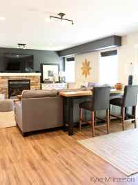 Sofa table behidn sectional, decorating ideas for family ...