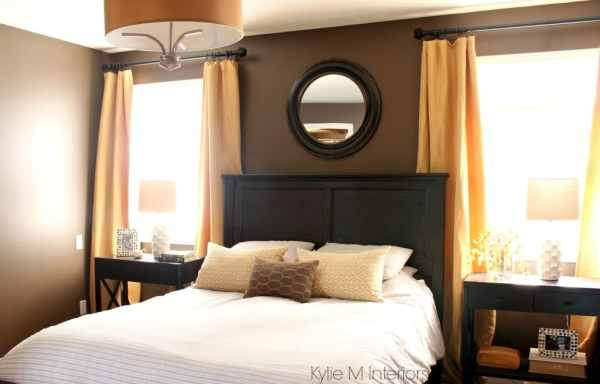 gold bedroom paint colors dark-bedroom-paint-colour-benjamin-moore-brown-horse-with