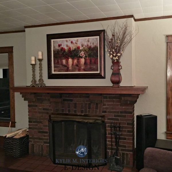 Paint Colours Walls Coordinate With Brick Fireplace