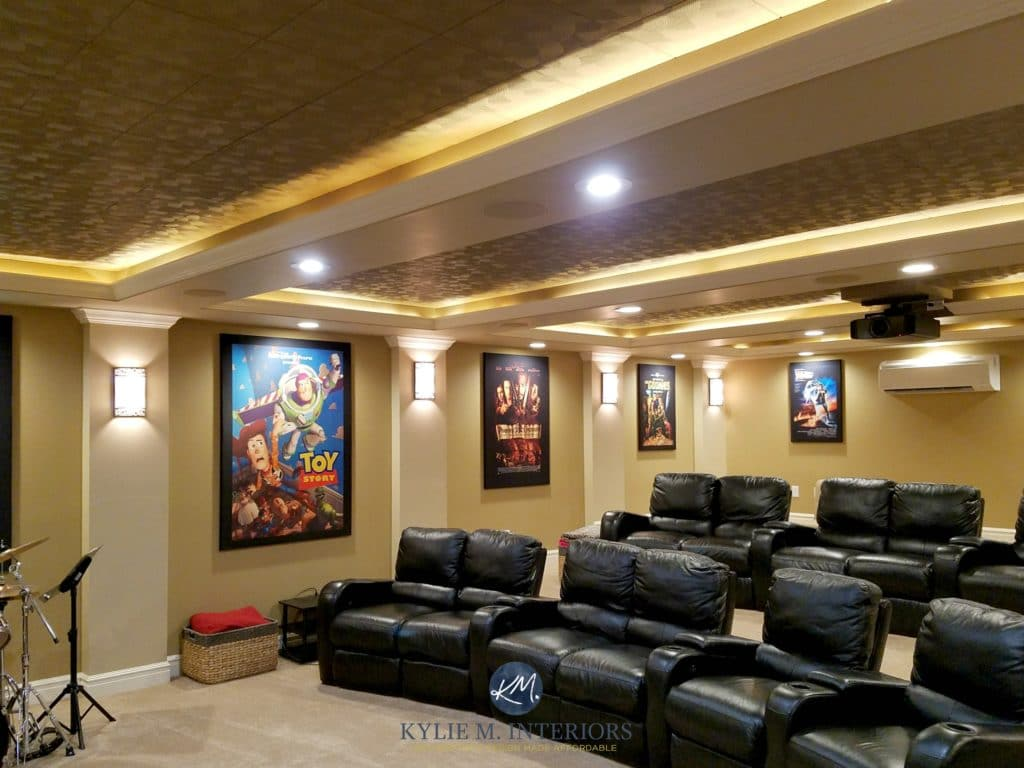 Home Theatre Or Media Room Remodel With Black Recliners