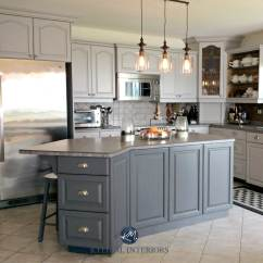How To Paint Kitchen Cabinets Grey Islands In Kitchens Oak Cathedral Painted Benjamin Moore