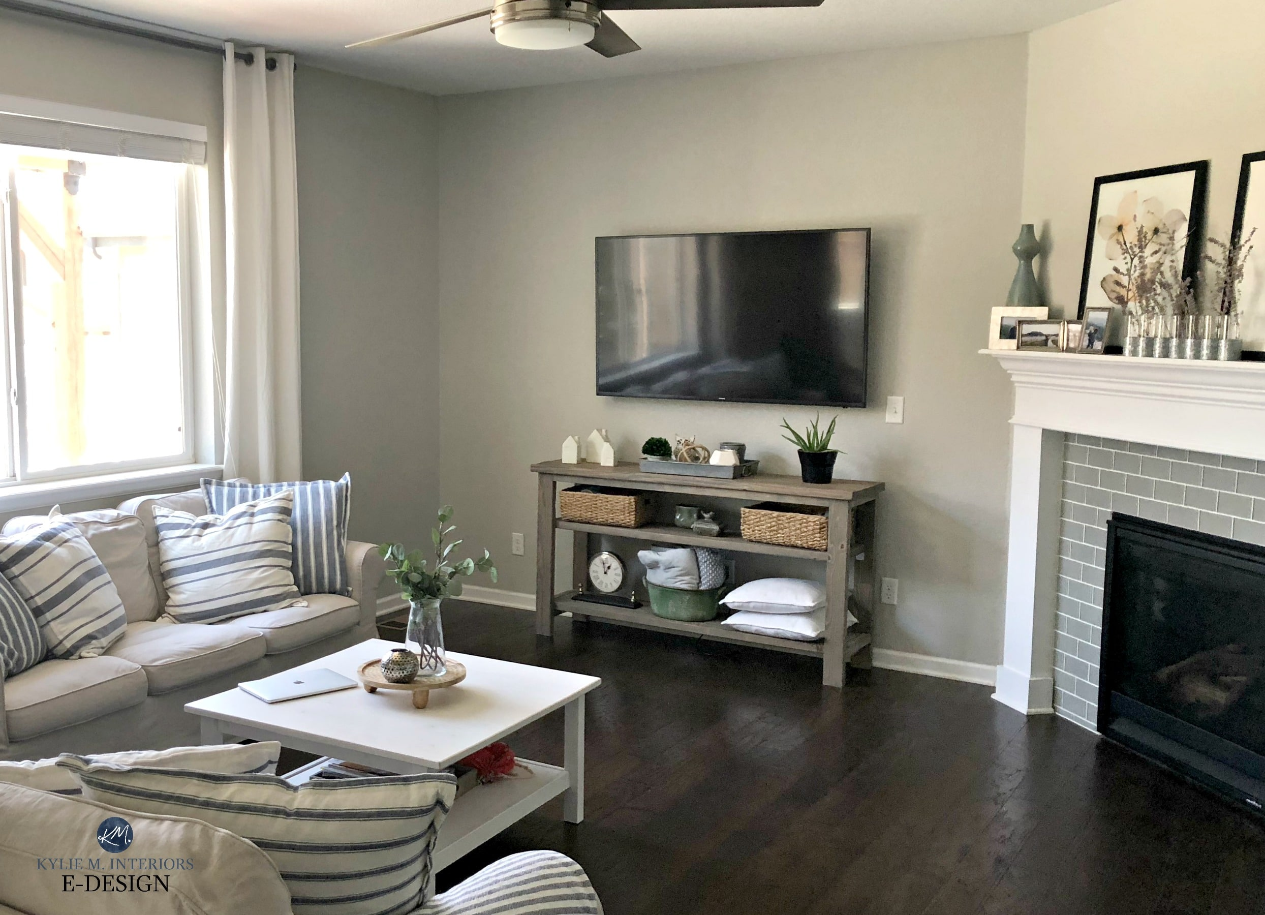 images of wood floors in living rooms christmas decorating ideas for small room sherwin williams repose gray family or dark flooring kylie m interiors edesign online paint consultant client before photo