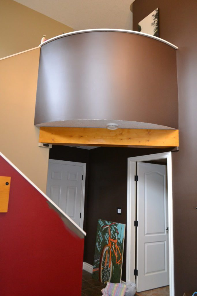 2 Storey Entryway Foyer And Stairwell Curved Wall Before