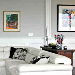 Room And Board Sofa Reviews Table Behind Couch Against Wall Benjamin Moore Stonington Gray In A Contemporary Living ...