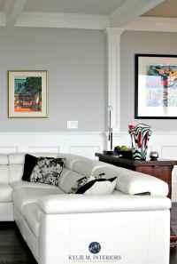Benjamin Moore Stonington Gray in a contemporary living ...