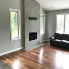Images Of Wood Floors In Living Rooms Furniture Set Up For Small Room Benjamin Moore Stonington Gray Flooring Cement Colour Tile Fireplace Vaulted Kylie M Interiors E Design