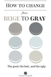 How to change from beige to gray or greige paint colours ...