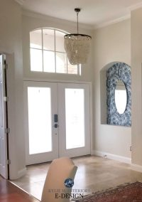 Sherwin Williams Neutral Ground with travertine tile ...