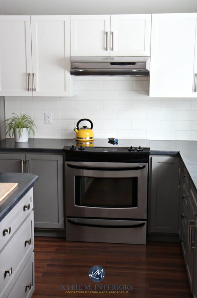 best countertops for kitchen island electrical outlet a budget friendly update – white, gray and gorgeous!