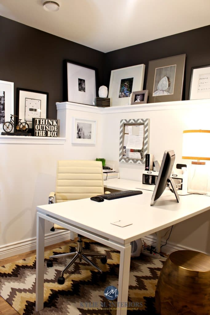Home Office With Foundation Wall Cloud White And Benjamin