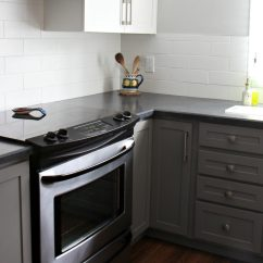 Sherwin Williams Paint For Kitchen Cabinets Sink Drain Parts Red Toned Wood Flooring With Benjamin Moore Chelsea Gray ...