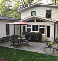 A Stunning Exterior Makeover  Painted Brick and More!