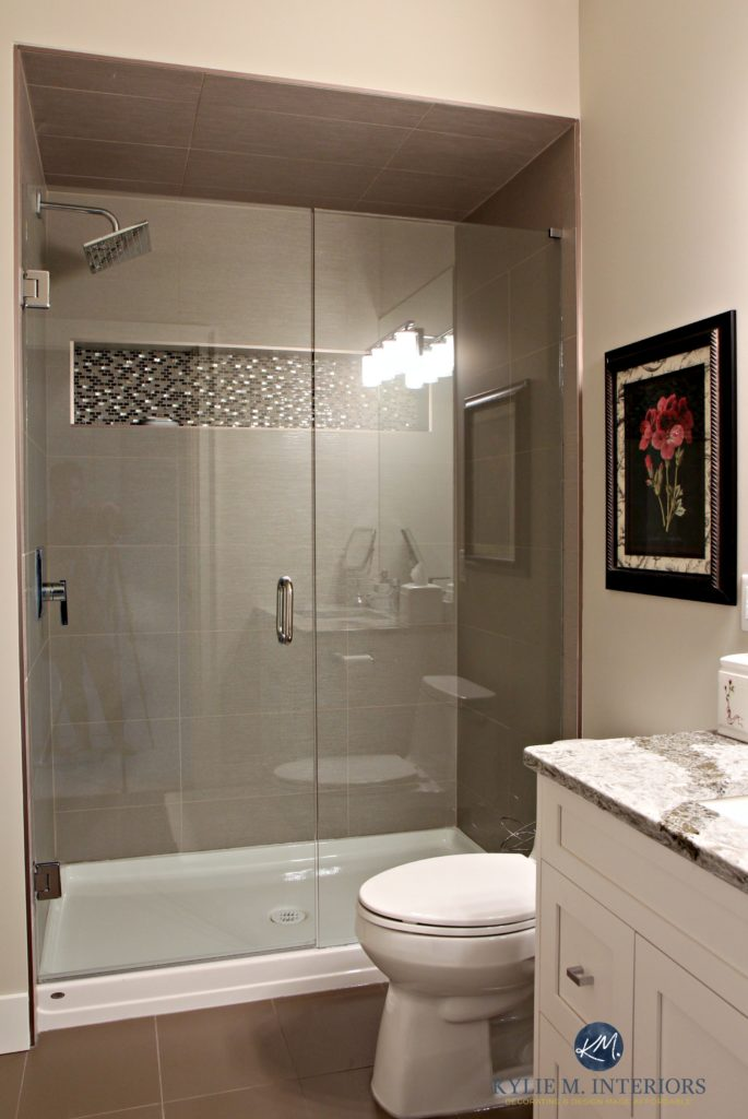 Small bathroom with walk in shower Glass doors