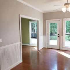 Gray Paint Colors For Living Room Country Style Rooms Ideas The 9 Best Benjamin Moore Grays Including Undertones Revere Pewter Red Orange Toned Wood Floor White Wainscoting