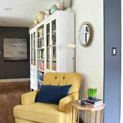 Paint Color Ideas Living Room Accent Wall Swivel Reclining Chairs For Chartreuse Chair With Blue Wall. Ikea Hemnes ...