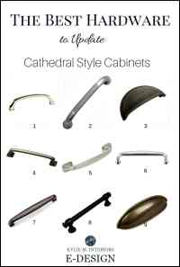 The best cabinet hardware, pulls, to update cathedral ...