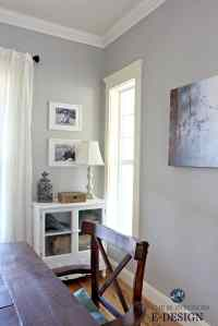Best gray paint colour, Benjamin Moore Revere Pewter with ...