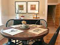 Eating nook, dining with black farmhouse furniture, Powell ...