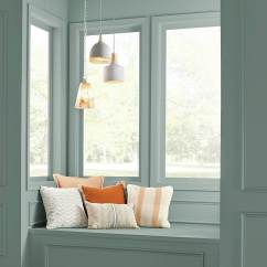 Best Neutral Paint Colors 2018 For Living Room Chandelier Small Behr In The Moment A Reading Nook On Painted Wall ...