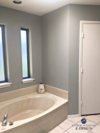 E-Design: An Almond Bathroom Gets a Fresh Paint Colour