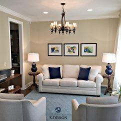 Living Room Without Coffee Table Ideas Arabian Decor Furniture Layout And Decorating Balance Symmetry Home Staging In With Navy Blue Accents Similar To Sherwin Williams
