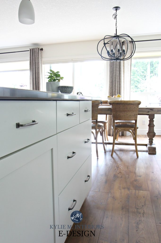 roller kitchen island white sink with drainboard our painted maple cabinets – 2 years later