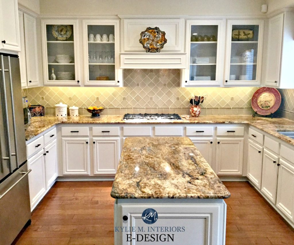 white appliances kitchen thermador package ideas decorating with painted cabinets maple and wood floor benjamin moore down kylie m interiors