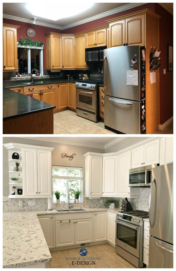 EDesign  An Oak Cabinet Makeover with White Dove