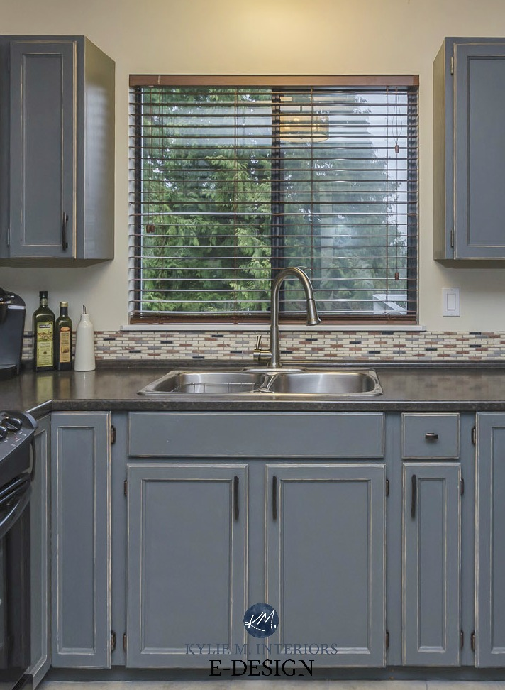 How To Paint Kitchen Cabinets Distressed Gray  Wow Blog