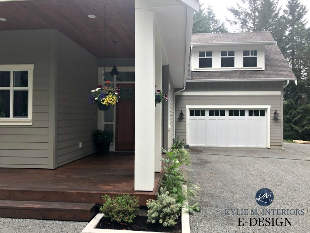 Exterior Painted Benjamin Moore Rockport Gray Cloud White