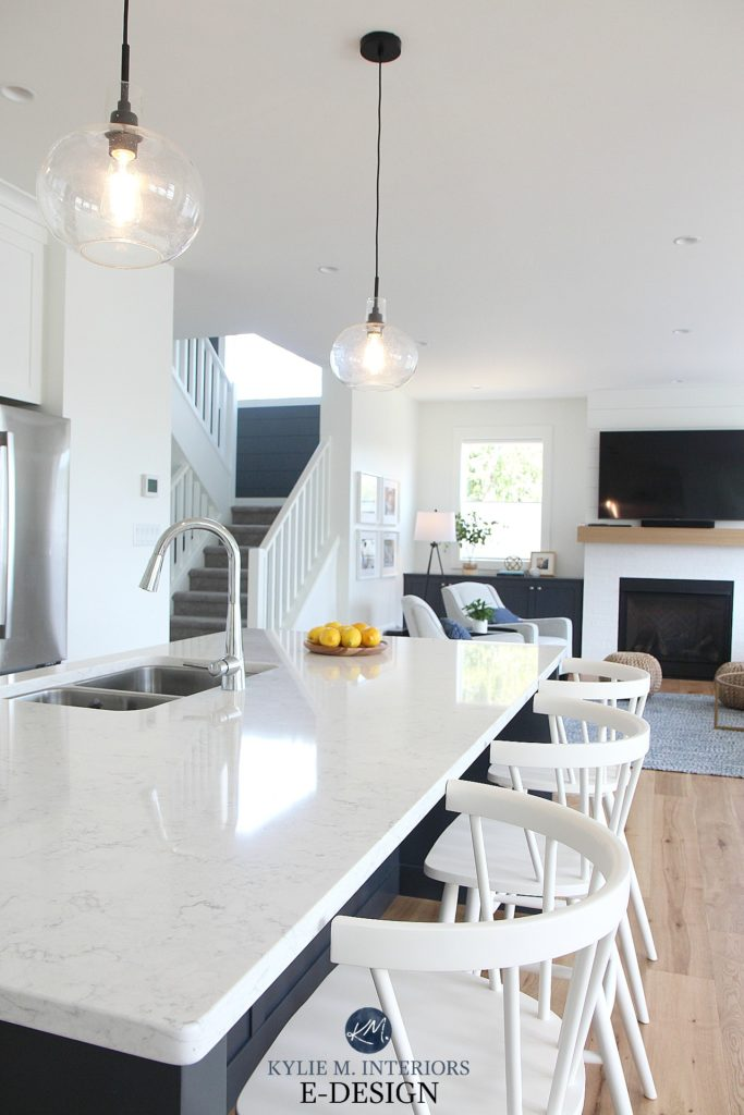 A Brand New White Kitchen With Sw Pure White And Cyberspace