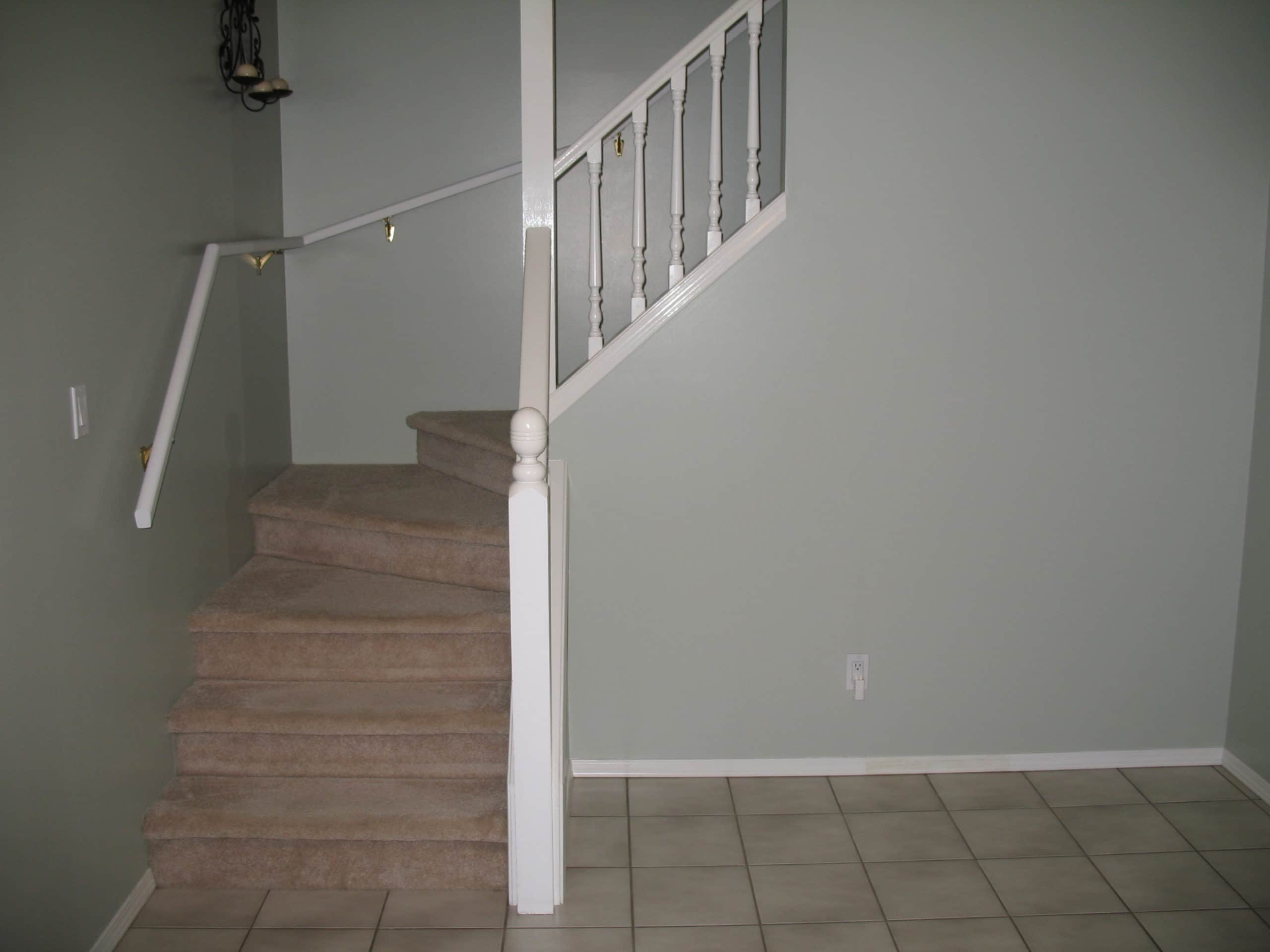 1990S Home With Carpet And Tile With Pink Undertone   Carpet And Tile Stairs   Gray   Backsplash   Carpeted   Tiled Hallway Carpet   Before And After