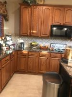 Oak kitchen cabinet update ideas before being painted ...
