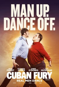 A small image of the movie poster for 'Cuban Fury'. Two men chest bump in a pseudo-macho display.