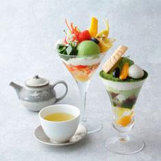 抹茶パフェ・季節のパフェ&お茶セット