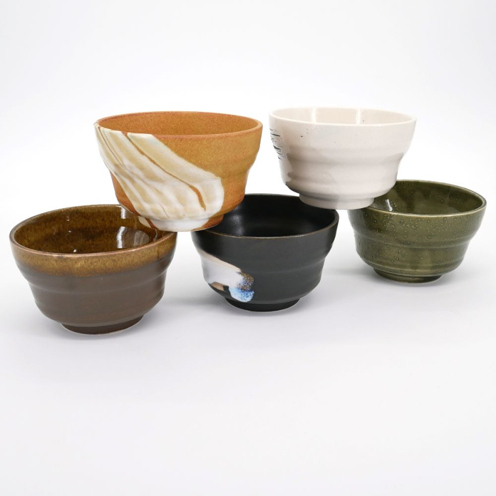 japanese 5 ceramic bowls