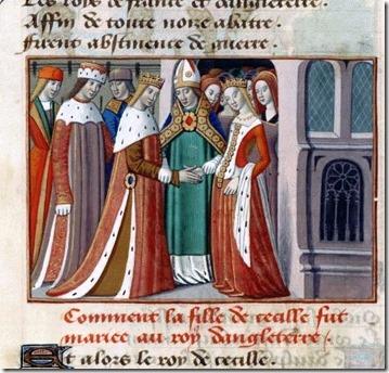 Henry VI marrying Margaret of Anjou